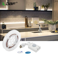 USB Rechargeable Motion Activated Bed Light PIR Sensor Manual Mode LED Strip Under Cabinet Lighting With
