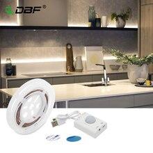 USB נטענת תנועה הופעל מיטת אור, PIR חיישן & ידני מצב LED רצועת תחת קבינט תאורה עם אוטומטי לכבות טיימר