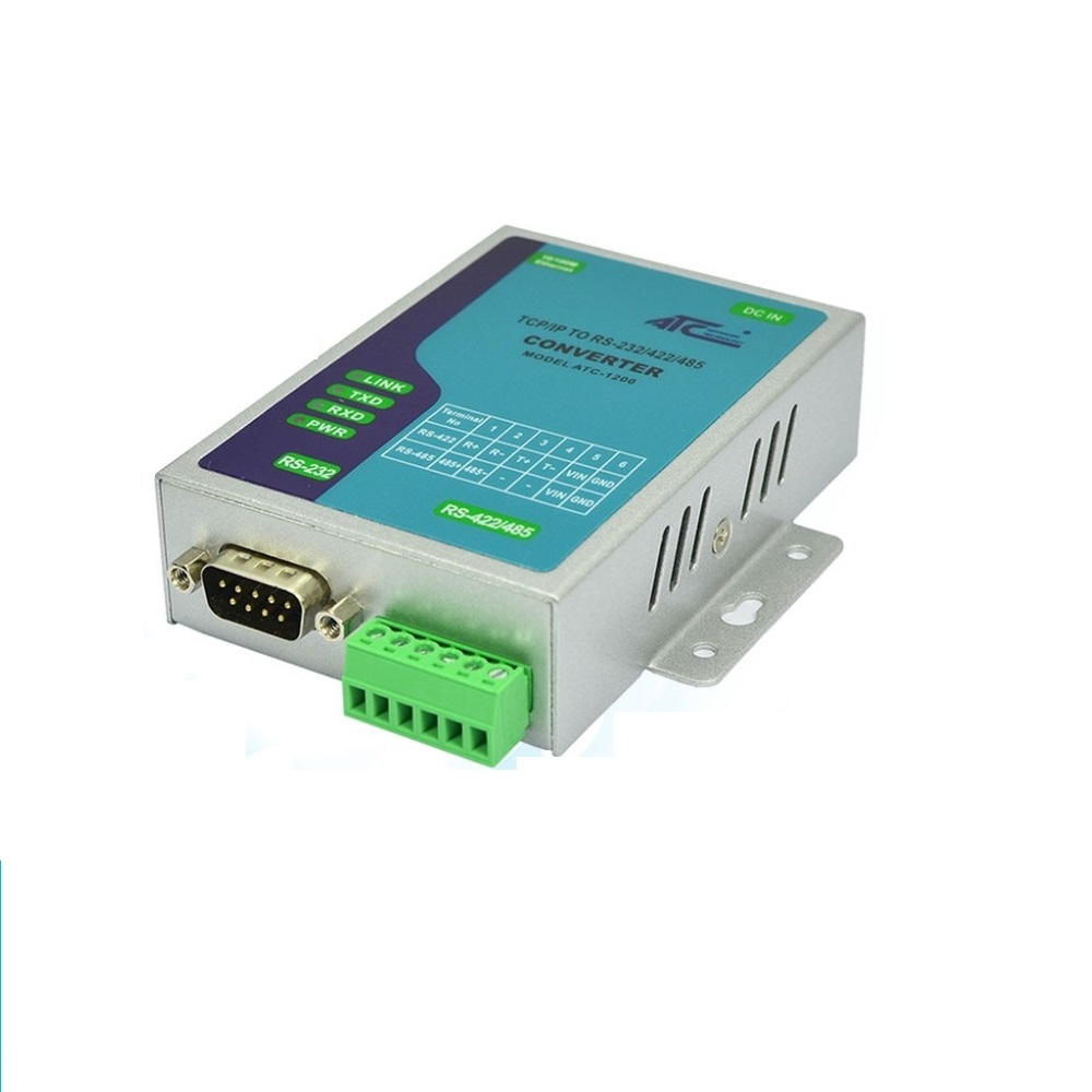 Serial Oral Server RS232 485 422 to Ethernet RJ45 Equipment Networking ATC 1200 Industrial Level