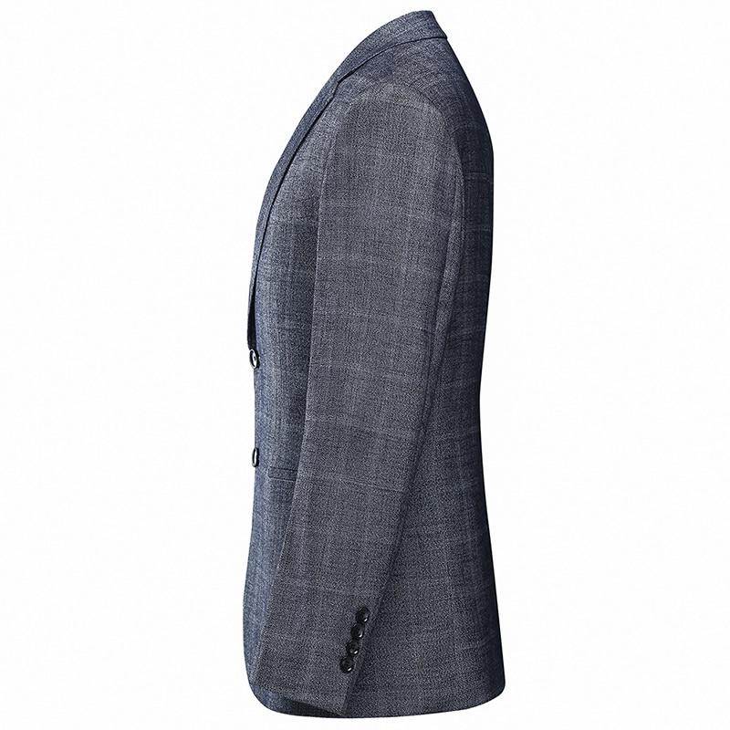 YUNCLOS, европейский размер, Мужской Блейзер, пиджак, формальный, деловой, блейзер, мужской, в клетку, с принтом, 2 пуговицы, элегантный, приталенный, мужской пиджак
