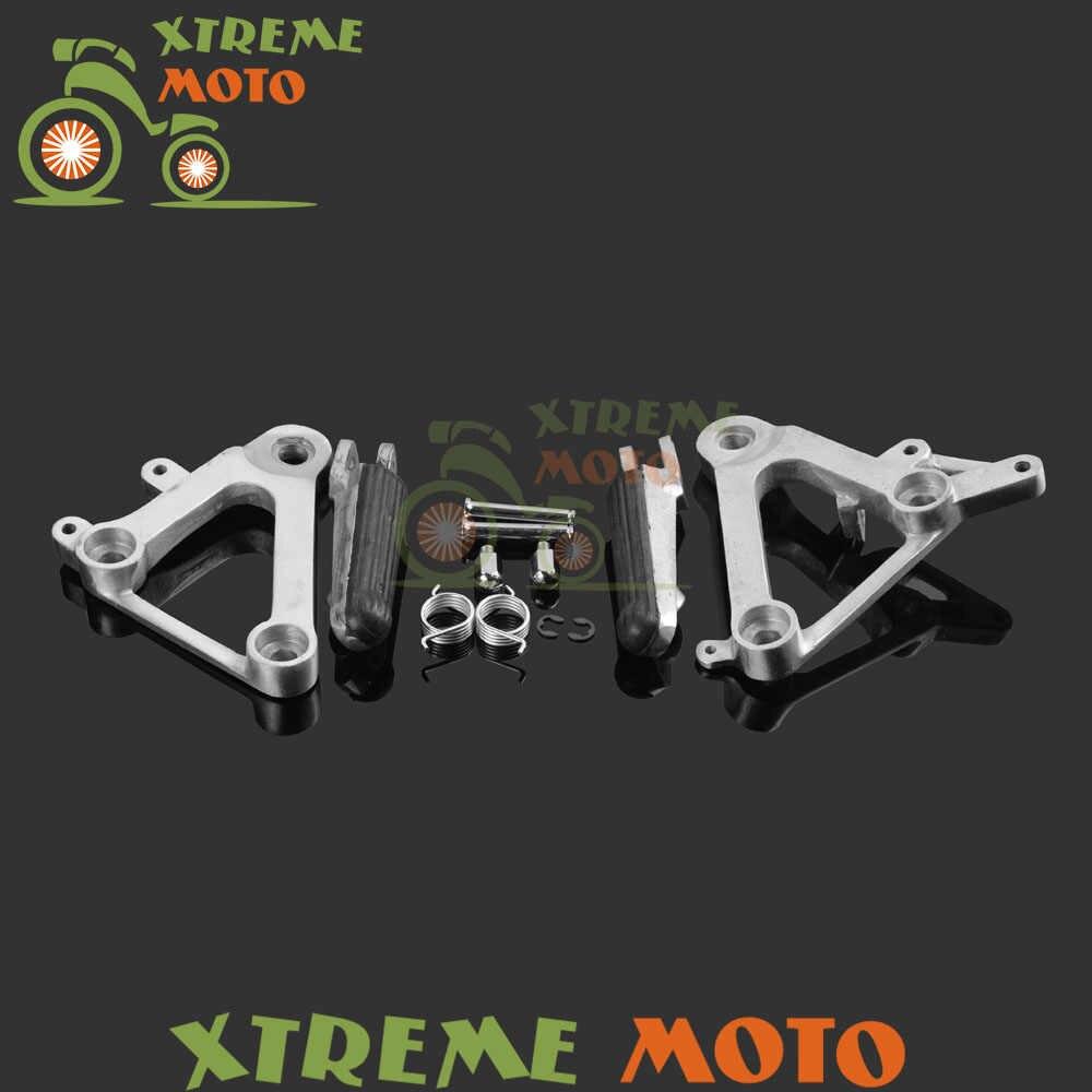 Perak Depan Rider Kurung Pijakan Kaki Kaki Bertumpu Pedal Tripod gunung Untuk Honda CBR400 NC23 CBR 400 1988 1989 88 89