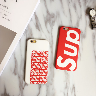 Style Original Supreme Case For Iphone 6 6s Plus Phone Cover 7 7plus S Scrub Soft Protective Sleeve
