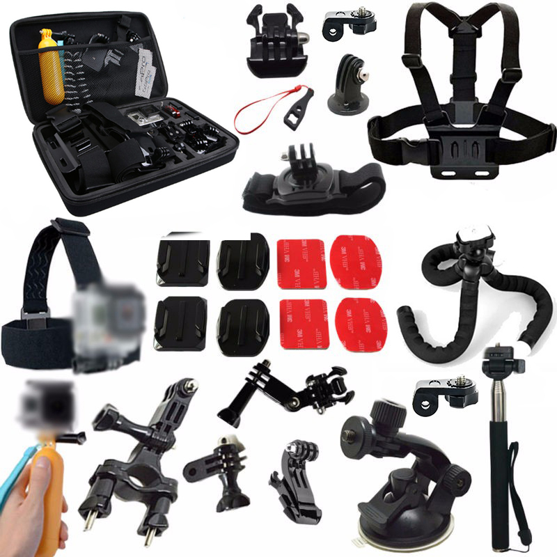 xiaomi Yi accessories for gopro hero 5 hero 4/3/2 SJCAM sj4000 sj5000x m10 m20 xiaomi yi basic xiaom yi 2 4k  SONY Action Cam