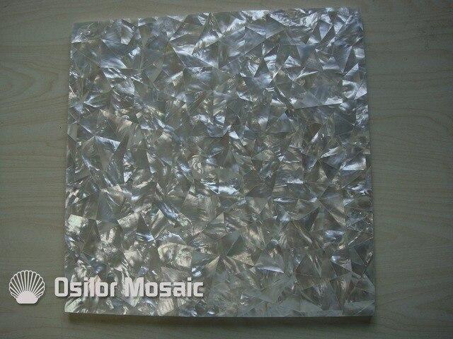 Naturale colore bianco modello a triangolo 100% sea shell bianco