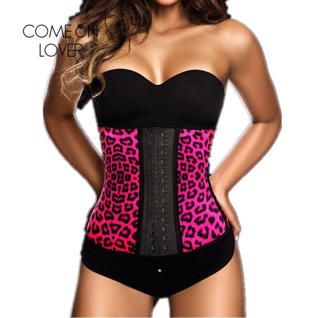 Ai2223 comeonlover sexo leopardo señora de cintura mujeres body shaper fajas shaper corsé en venta que adelgaza la correa de cintura de látex