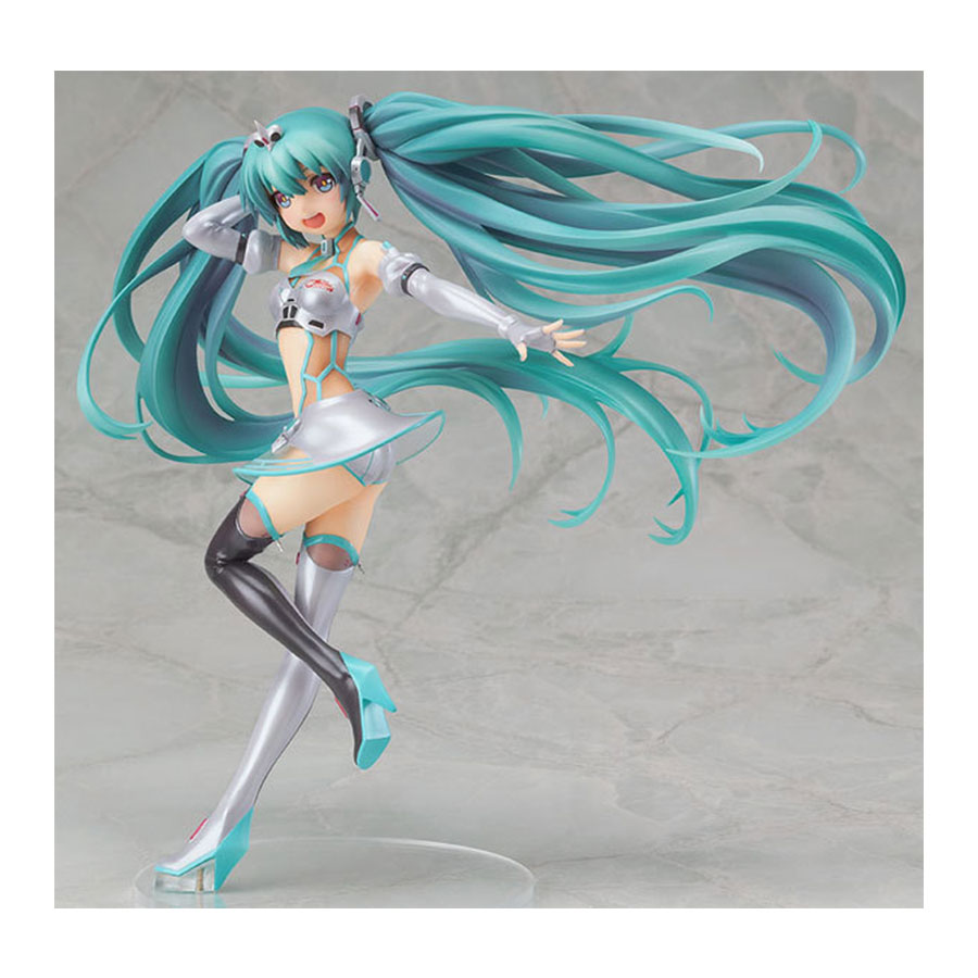 22cm Japanese Anime Figure Hatsune Miku PVC Action Figure 2012 Racing Girl Ver. Miku Model Collection Doll Toys image