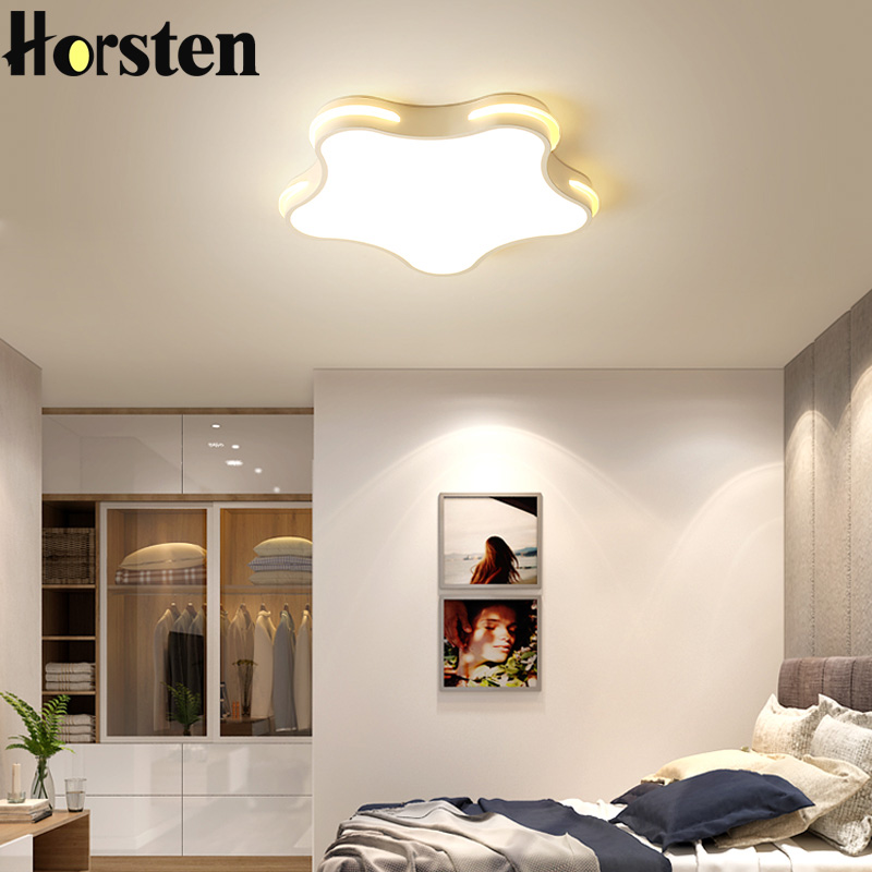 Modern Ultra Thin 5cm Creative Star Led Ceiling Lamp Children S Room Lighting Remote Control Lights
