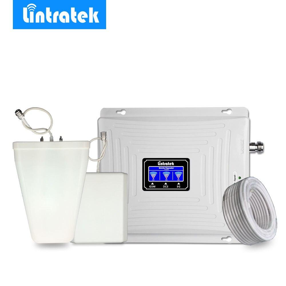 Lintratek трехдиапазонный сотовый усилитель сигнала 2 г 3g 4G 1800 мГц LTE 900 мГц 2100 мГц WCDMA мобильный телефон усилитель сигнала повторитель @