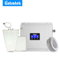 Lintratek Triple Band Cellular Signal Booster 2G 3G 4G 900MHz LTE 1800MHz 2100MHz WCDMA Mobile Phone