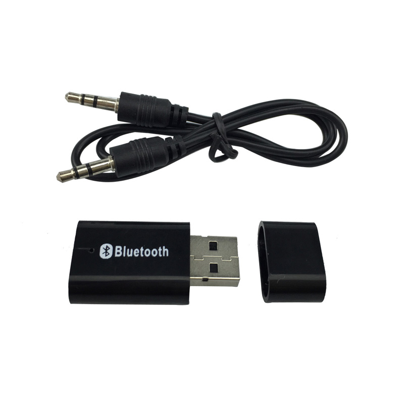 USB Bluetooth Music Receiver Adapter 3.5mm Stereo Audio For IPhone 6 7 8 Mp3 IPad Speaker Tablet PC