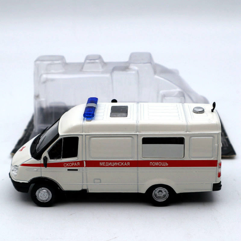 CARS OF SERVICE 1:43 SCALE GAZ 32214 GAZELLE AMBULANCE NEW RUSSIAN DIECAST