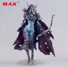 toys gift for boys 17CM WOW Sylvanas Windrunner archery queen PVC anime action figure model with base for children kid birthday cataclysm lady sylvanas windrunner action figure pvc collection model toys