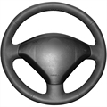 Black Artificial Leather Car Steering Wheel Cover for Peugeot 307