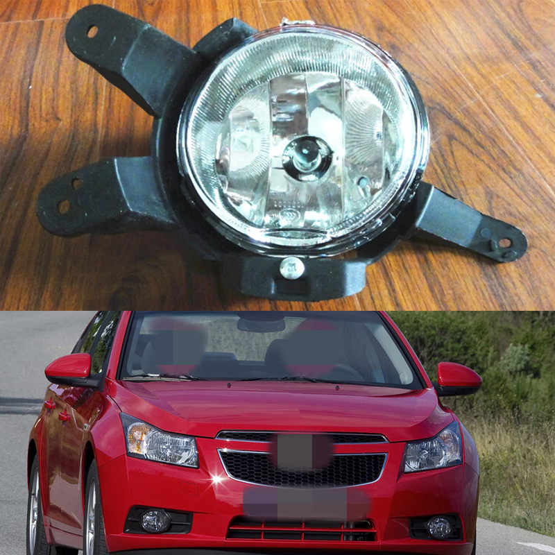 1Pcs Right Side Front Bumper Fog Light Driving lamp For Chevrolet Cruze 2009-2014 1 pcs left right fog lamp with bulbs front bumper driving fog light for suzuki alto 2009 2017