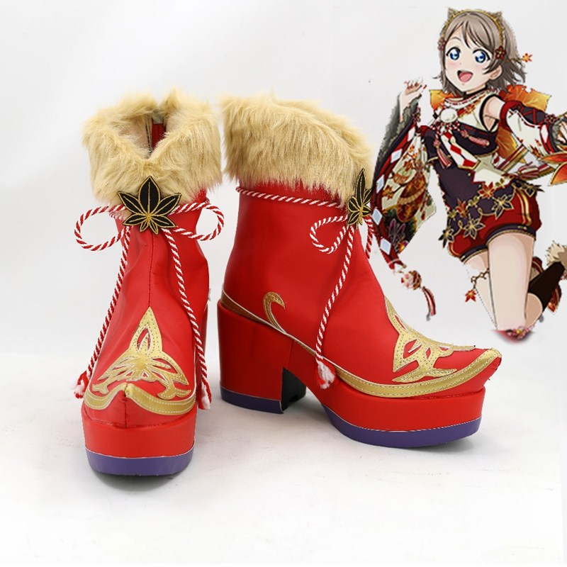 Love Live! Sunshine Aqours Takami Chika Sakurauchi Riko Boots Cosplay Costumes Halloween Party Props Accessories Shoes Made