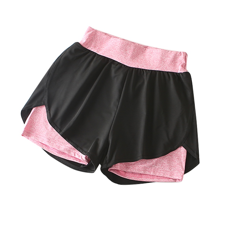 Summer Double Layer Workout Shorts Women Skinny Sporting Fitness Shorts Women Elastic Breathable Casual Shorts For Female