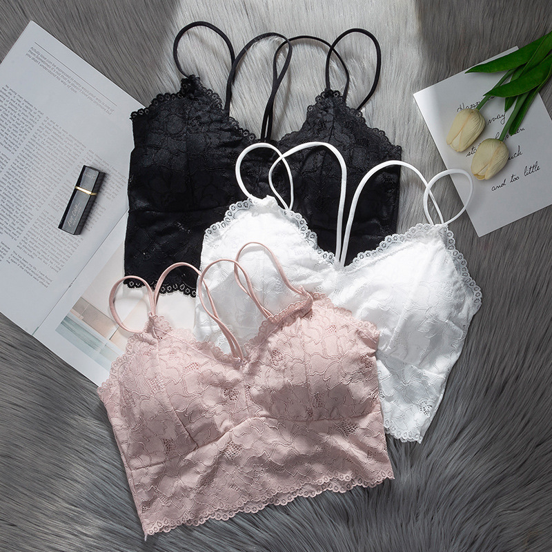 Women Bras Lace Underwear Ladies Casual Sexy Lingerie Push Up Active Bra Female Seamless Bralette Gril Free Brassiere 2019