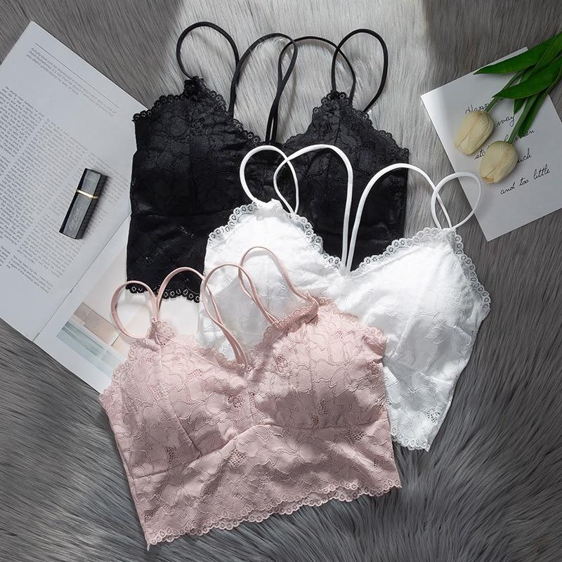 Women Bras Lace Underwear Ladies Casual Sexy Lingerie Push Up Active Bra Female Seamless Bralette Gril Free Brassiere 2019