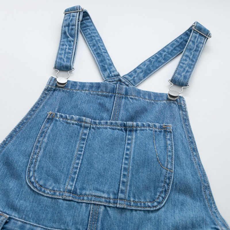 SEMIR Модный женский джинсовый комбинезон Женская Летняя мода свободные джинсы комбинезон женский Повседневный плюс размер комбинезон легкий костюм с карманом