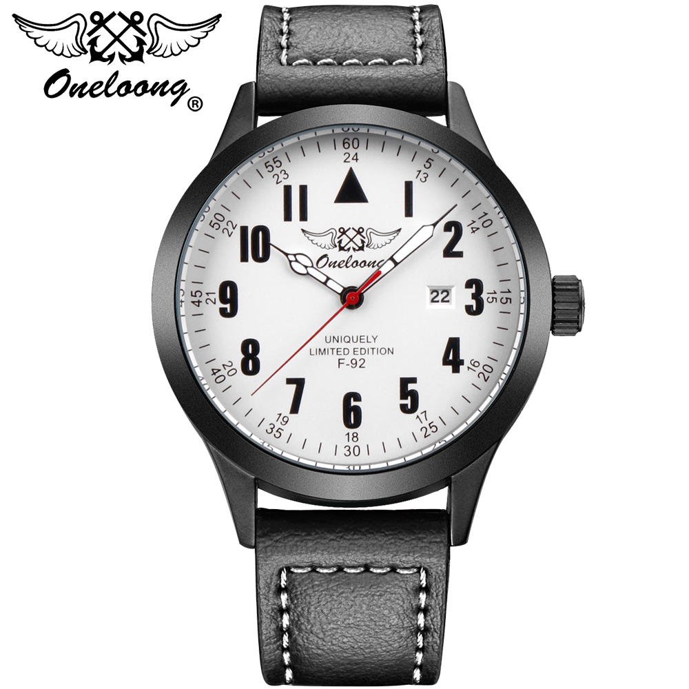 ONELOONG Quartz Watch Men Top Brand Luxury Leather Mens Watches Fashion Casual Sport Clock aviator watch Relogio Masculino classic simple star women watch men top famous luxury brand quartz watch leather student watches for loves relogio feminino