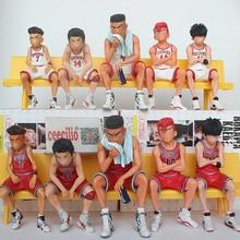 Anime Slamdunk Shohoku GK Figure Miyagi Akagi Rukawa Sakuragi Mitsui SLAM DUNK Model Toy For Boys
