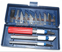 Free Shipping New 13pcs Hobby Knife Set Graver Burin Carving Knife Carving Tools Set With 3
