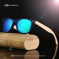 KITHDIA Natural Striped Zebra Wood Sunglasses Man Women Anti-glare Polarized Lens Wooden Sun glasses Luxury Brand Designer