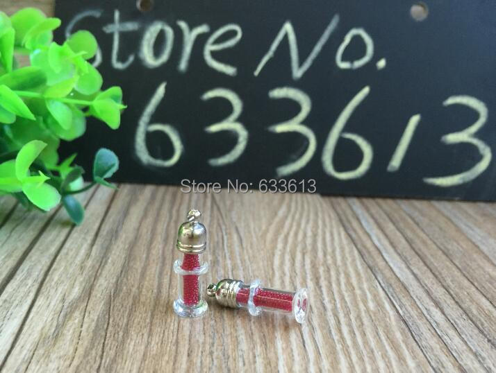 300 pcss Lot bambú frasco de cristal colgante (vidrio metal tapa y tapón de  goma blanco) 3f68cdd11d9
