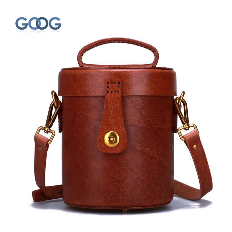 Original new handbag female handbag handmade first layer of leather buckets bag Messenger personality personalized hard bag steven goldberg h billions of drops in millions of buckets why philanthropy doesn t advance social progress
