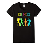 1970 S Style Disco Dancers Dancing Retro Design T Shirt Design T Shirt Novelty Tops Basic