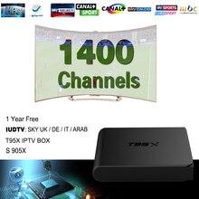 ยุโรปIPTVกล่องหุ่นยนต์ทีวีกล่องSky IPTVรับและ1400 + Skyฝรั่งเศสตุรกีเนเธอร์แลนด์ช่องดีกว่าMXV A Ndroidทีวีกล่อง