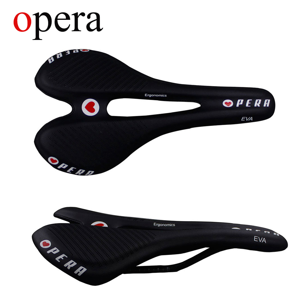 OPERA 3K Carbon Fiber Bicycle Saddle Road MTB Bike Carbon Fill the leather Saddle Seat Free shipping in Bicycle Saddle from Sports Entertainment
