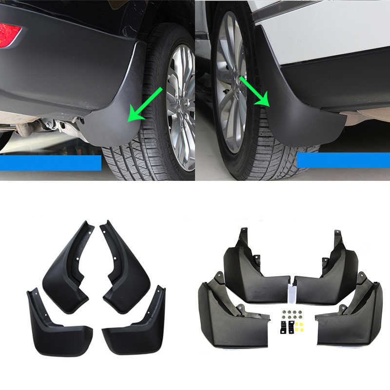Car Mud Flaps Splash Guard Front Rear Fender Mudguards for Land Rover Discovery <font><b>3</b></font> 4 <font><b>5</b></font>/Velar/Freelander <font><b>2</b></font>/Range Rover 06-18 So On image