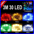 3M 30 LED Party Garden Navidad Flasher Outdoor Decoration Garland Fairy String New Year LED Battery Christmas Lights JJ C-11