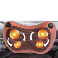 Neck Massager Electric Car Office Cervical Shiatsu Relaxation Massage Back Waist Infrared Therapy Electrical Pillow Cushion