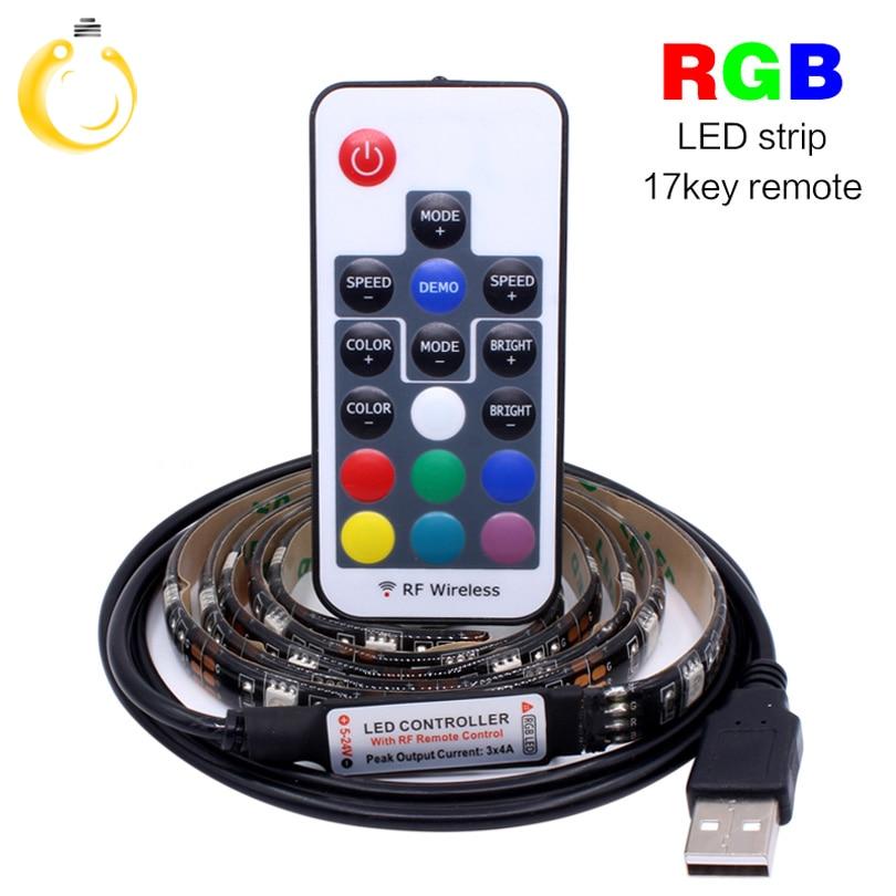 Led Lighting 5v Rgb Led Strip Usb Colour Changing Tv Pc Background Light Lights & Lighting Remote Control Large Assortment