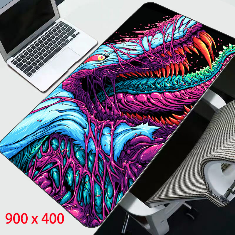 Gaming Mouse Pad XL Large 900*400 Locking Edge Rubber Mousepad Gamer CS Go Hyper Beast Mouse Mat Wrist Rest For Computer Laptop