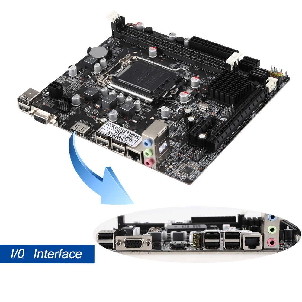 Материнская плата для настольного компьютера H61 LGA1155 макс. 16 Гб 2xDDR3 материнская плата для ПК материнская плата с поддержкой Core 2/3 Pentium/Celeron/Xeon