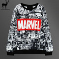 Aelfric Eden Cartoon Women Hoodies Casual Women Round Neck Comic Japanese nime Printed Black Marvel Hoodies Sweatshirt Women's