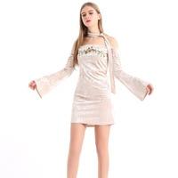Timeson Summer Floral Print Women Chiffon White Dress Ruffle Off Shoulder Spaghetti Strap Female Tunic Girl