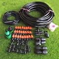 MUCIAKIE réglable Orange brumisation refroidissement système d'irrigation Kit d'arrosage 8/11 4/7 tuyau buse Tee Eng Plug Connecter raccords