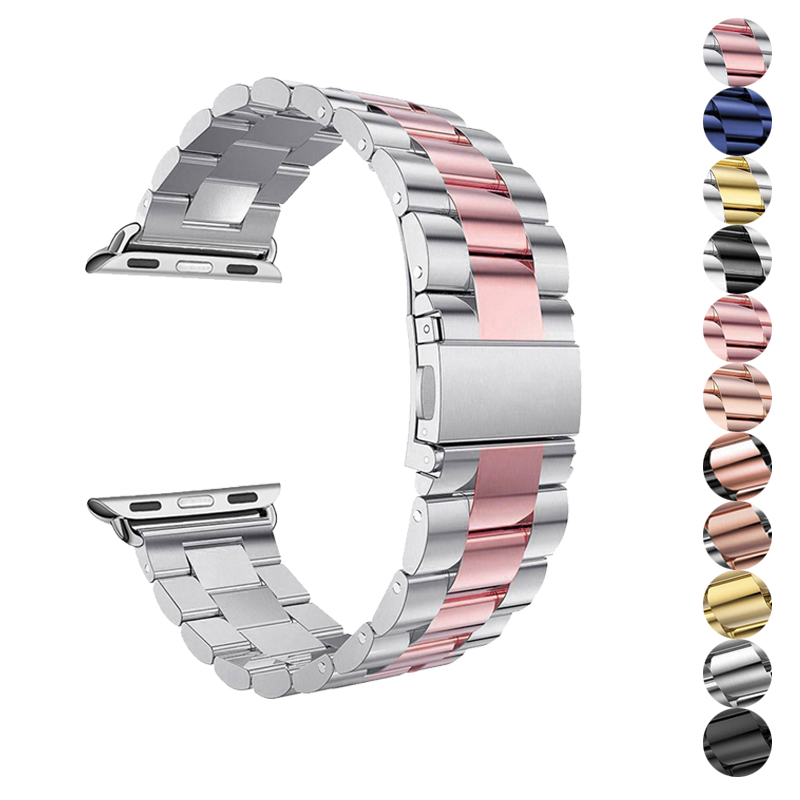 metal strap for apple watch band 42mm 38mm 4/3/2/1 bracelet stainless steel watchband for iwatch 44mm 40mm correa Accessoriesmetal strap for apple watch band 42mm 38mm 4/3/2/1 bracelet stainless steel watchband for iwatch 44mm 40mm correa Accessories