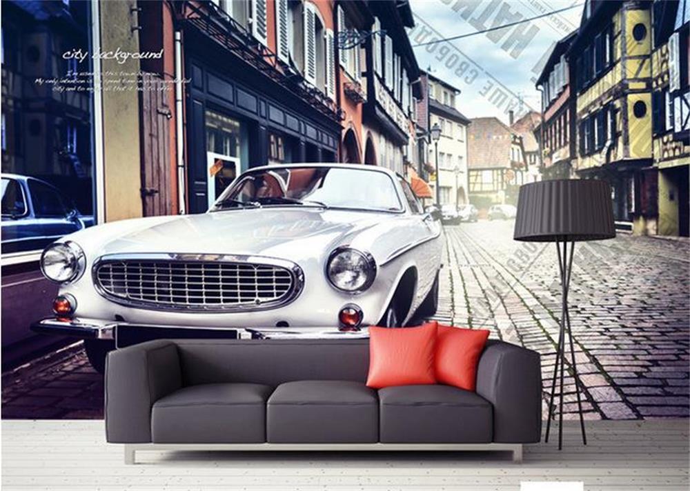 3D wallpaper/custom photo HD mural/The old car ou/TV/sofa/Bedroom ...
