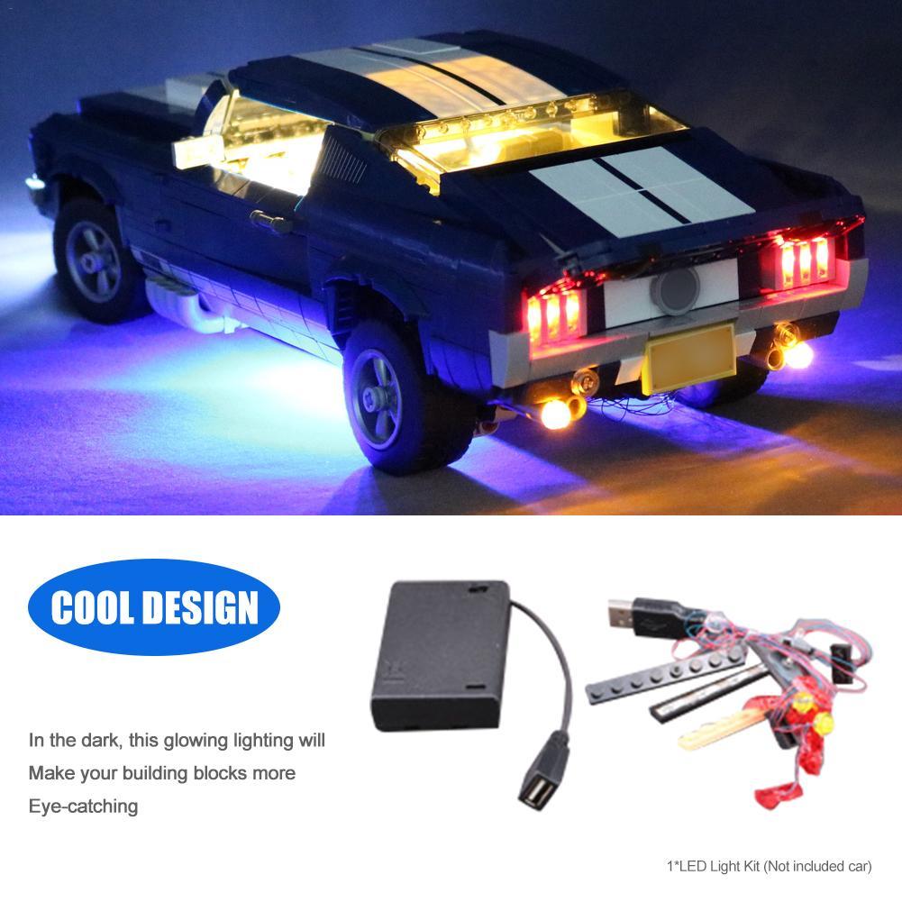 New LED Light Kit For LEGO 10265 For Ford For Mustang Model Toy Bricks Blocks USB LED Lighting Kit