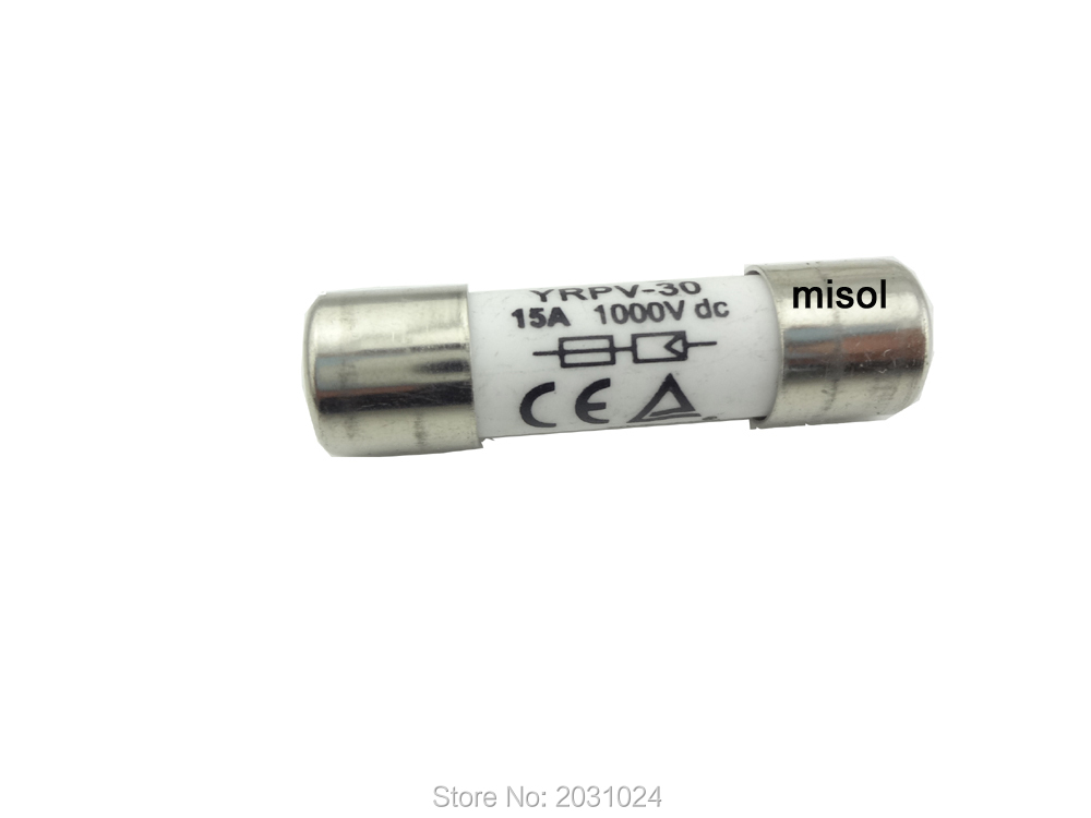 MISOL 1 unit of PV solar fuse 20A 1000VDC fusible 10x38 gPV