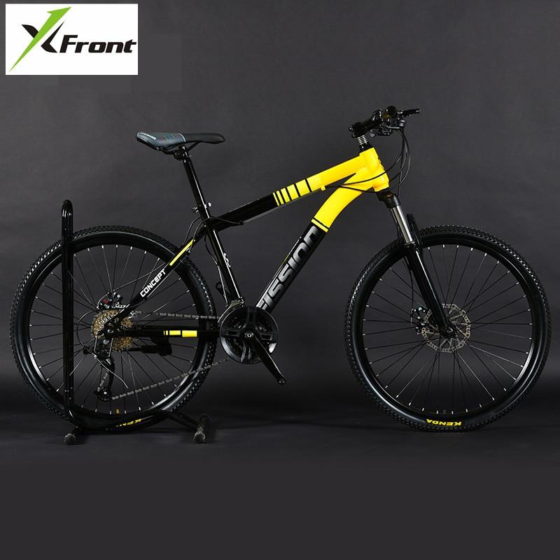 New Brand Mountain Bike Carbon Steel frame 24/26 inch Wheel 27/30 Speed Lockable fork Bicycle Dual Disc Brake MTB Bicicleta