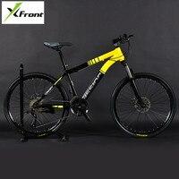 Nova marca mountain bike quadro de aço carbono 24/26 polegada roda 27/30 velocidade com fechadura garfo bicicleta freio a disco duplo mtb