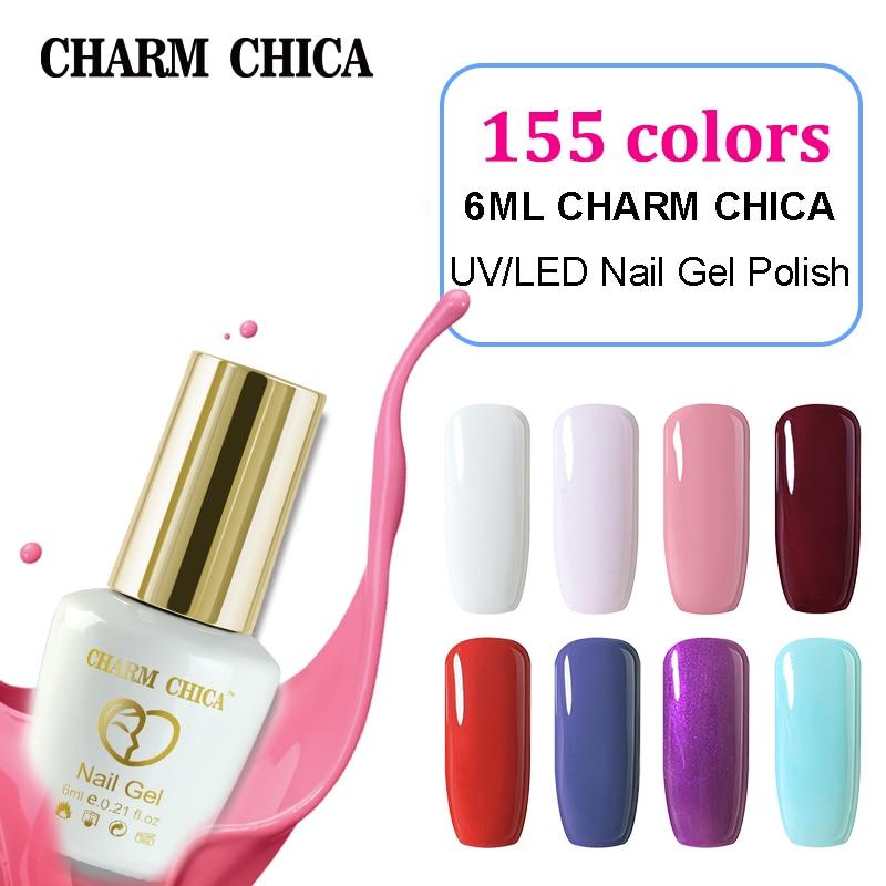 CHARM CHIICA Nail Gel Polish 12ml Pink Nude Color Gel