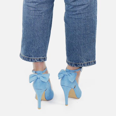Women High Heels Brand Pumps Women Shoes Pointed Toe Buckle Strap Butterfly Summer Sexy Party Shoes Wedding Shoes Plus Size DE Islamabad