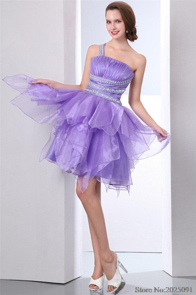 Reale Abbildungen lavendel abend kleid Ballkleid Kurze Abschlussball ...